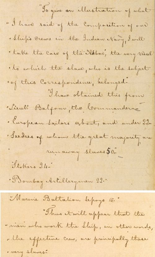 Extract of a letter, dated 5 March 1855, from Henry Anderson to George Edmonstone,
