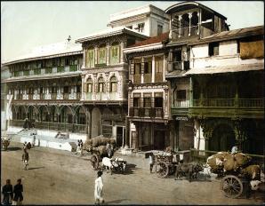 Street scene in Bombay c 1890
