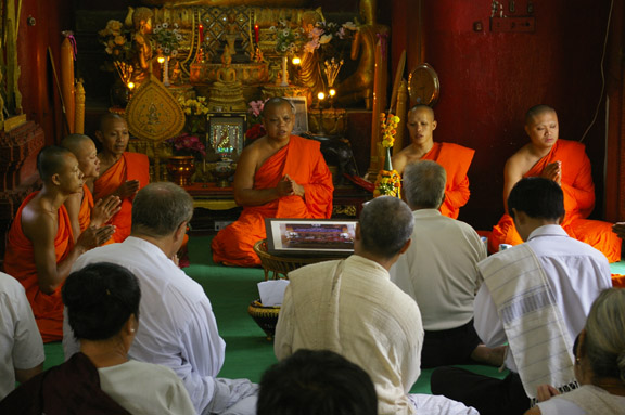 Buddhist celebration Luang Prabang