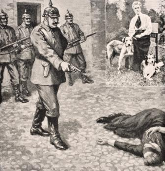 Imaginary drawing of the execution of Edith Louisa Cavell