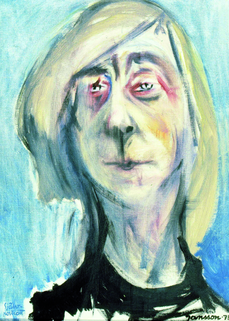Self-portrait of Tove Jansson in 1975
