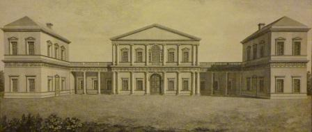 Colonnaded house in Palladian style