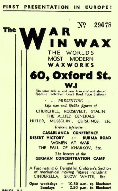 Pamphlet The War in Wax
