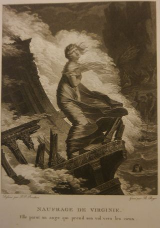 Illustration of Virginie in a shipwreck