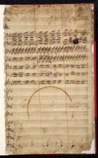Original manuscript of Handel's 'Zadok the Priest'