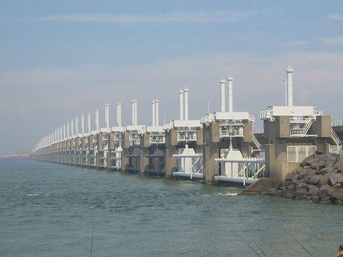 Photograph of the Oosterschelde sea-dam