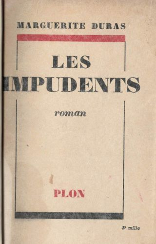 Plain text cover of 'Les Impudents'