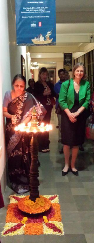BL Chairman of the Board, Baroness Tessa Blackstone, at the lamp-lighting ceremony