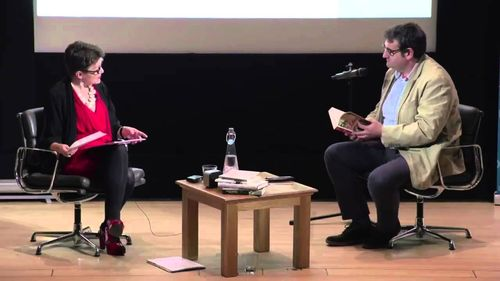 Rosie Goldsmith and Jordi Punti on stage at the British Library
