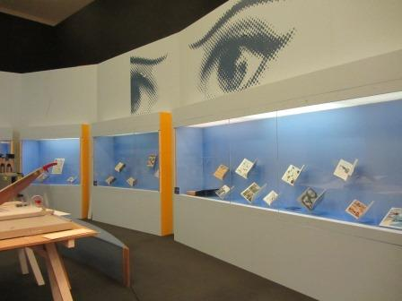 Comics Unmasked exhibition cases