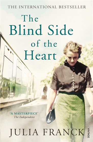 Cover of 'The Blind Side of the Heart' with a picture of a woman on a station platform