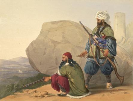 Afghan foot soldiers in their winter dress