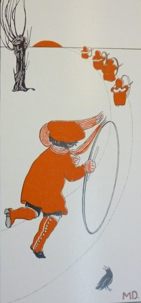 Child playing with a hoop
