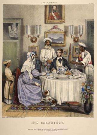 India - Europeans breakfasting