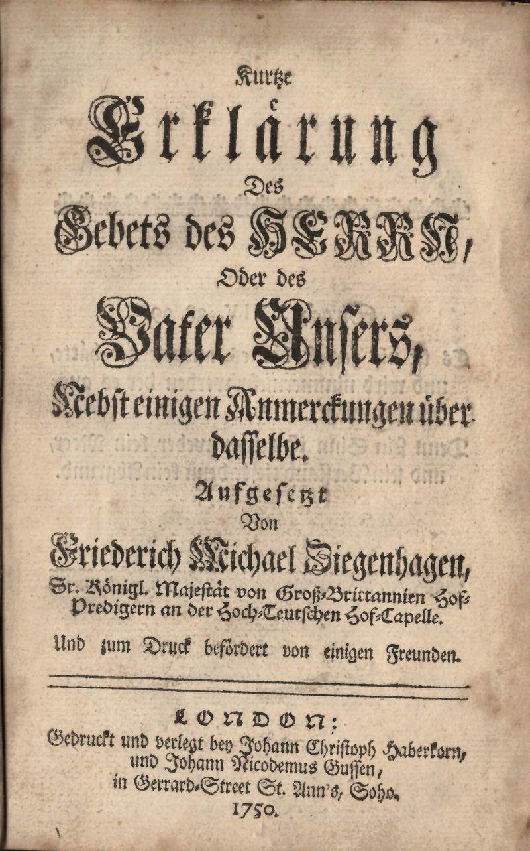 Ziegenhagen, Kurtze Erklärung