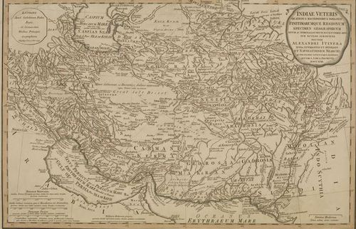 1797 map of Persia and parts of Central Asia
