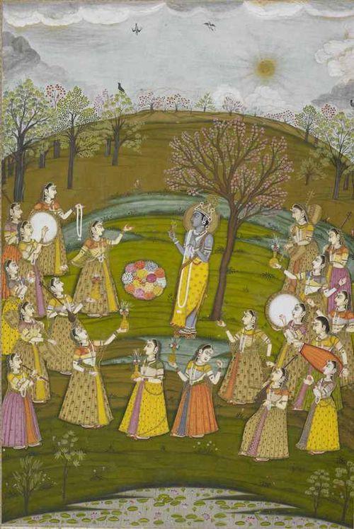 Vasanta Ragini, Murshidabad (Bengal, India), c. 1760. Johnson Album 36,8.