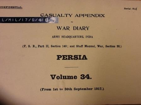 Front cover of Casualty Appendices to the War Diaries