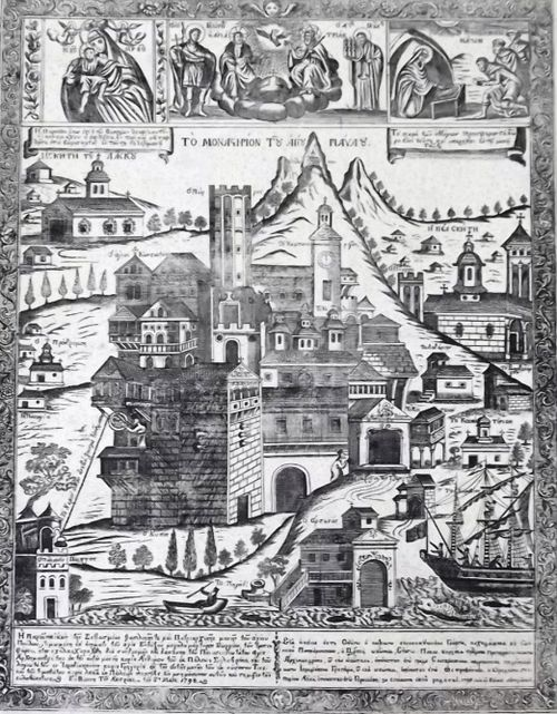 Engraving of the Monastery of St Paul