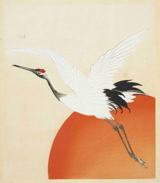 Page from Tennen hyakkaku, 'Tennen's one hundred cranes' by Kaigai Tennen, Kyoto, 1900. Orb40/964 vol.3 f.17r.