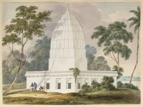 The Clevland monument. Inscribed: 'N20 Monument erected by the natives of the Bhaughulpoor District to the memory of Augustus Clevland Esqr. Sept 1820.' WD4404, f.20.
