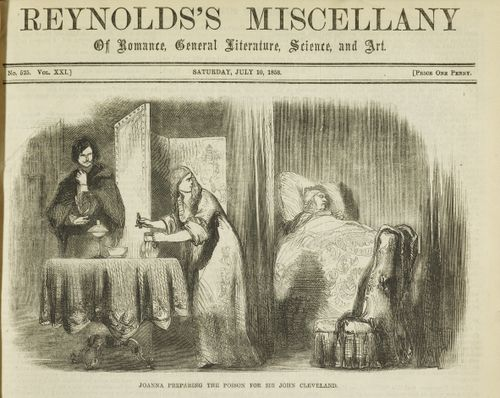 Joanna preparing the poison for Sir John Cleveland