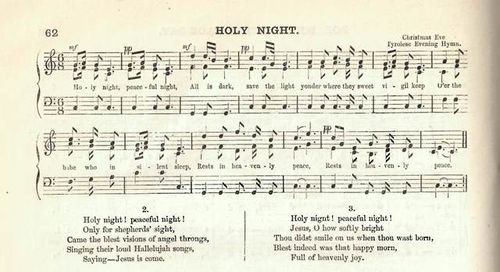 Music and words of J.M. Campbell's translation of 'Silent Night'