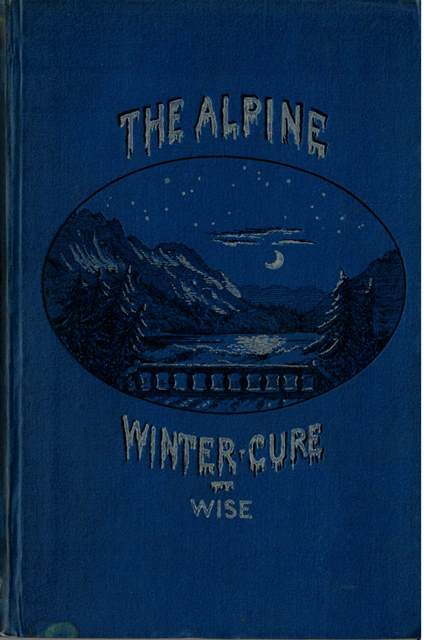 Book cover showing an icy mountain scene by night