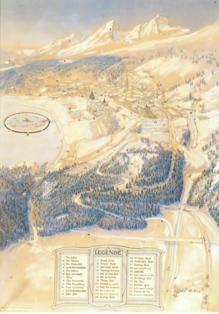 Bird's eye view of St Moritz
