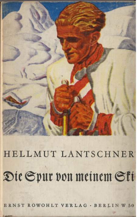 Book cover showing the head and shoulders of a skier against a mountain landscape