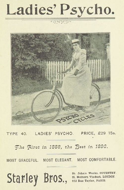 Advert for a Psycho bicycle