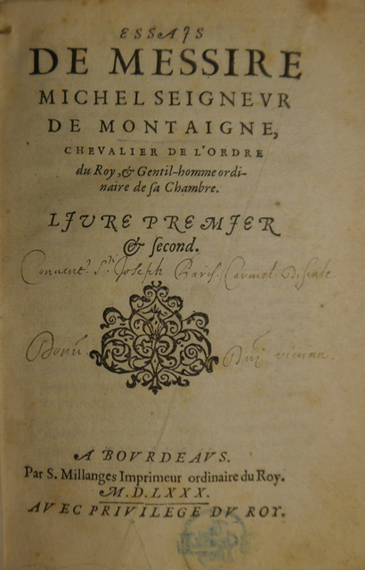 Montaigne 1st edition