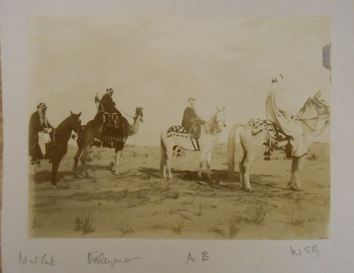 Photograph of Anne and Wilfred Blunt on horseback
