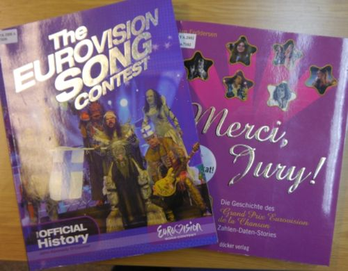 Covers of books about the Eurovision Song Contest