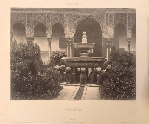 Daguerrotype of the Court of the Lions in the Alhambra