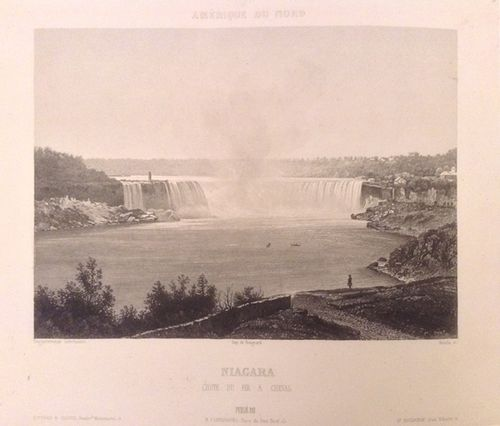 Daguerrotype of the Horseshoe falls at Niagara Falls