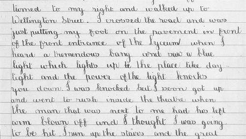 Holborn schoolboy's impressions of Zeppelin Raids over London