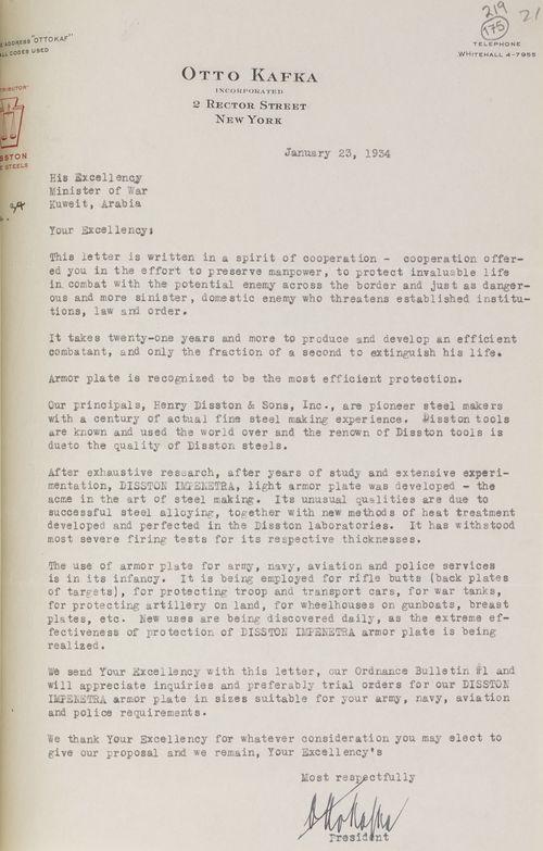 Kafka's first letter