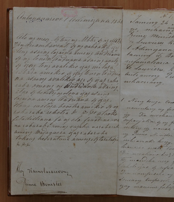 Page from the diary.