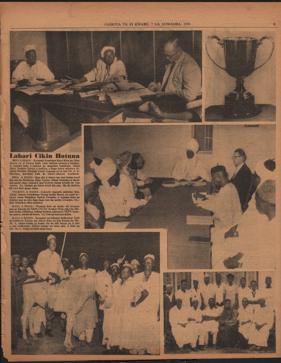 Page of the newspaper with several photographs.