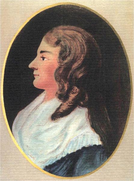 Colour portrait of Dorothea Erxleben