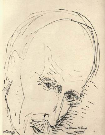Sketch of Rolland's head