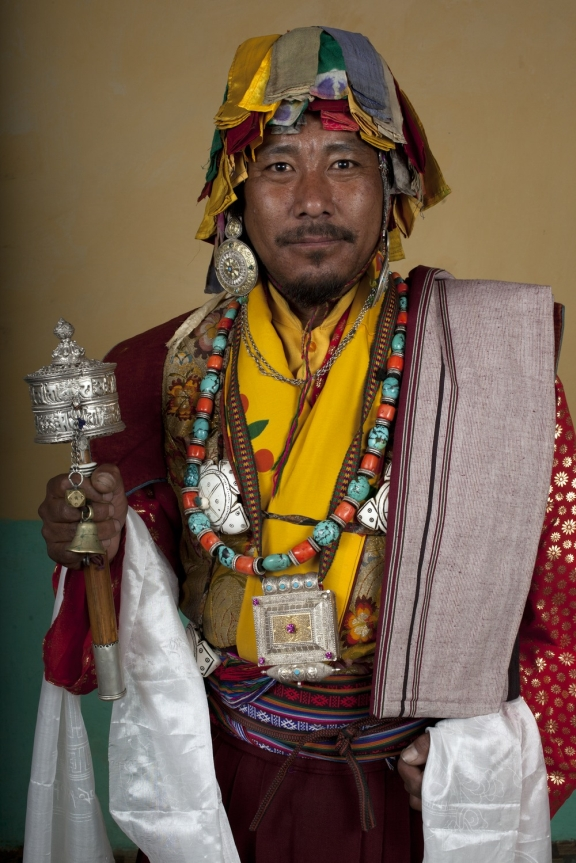 Contemporary photograph of a Buchen in full costume.