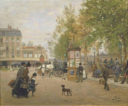 Station square in Nancy in 1887
