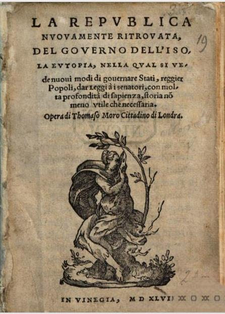Title-page of the first Italian translation of 'Utopia'