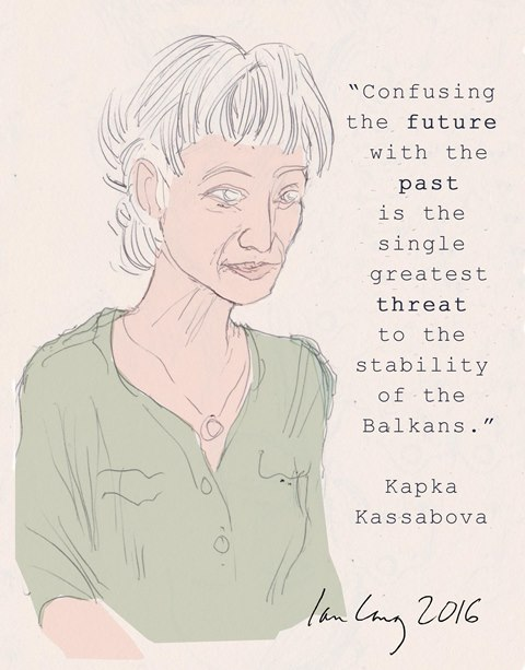 Portrait of Kapka Kassabova by Ian Long