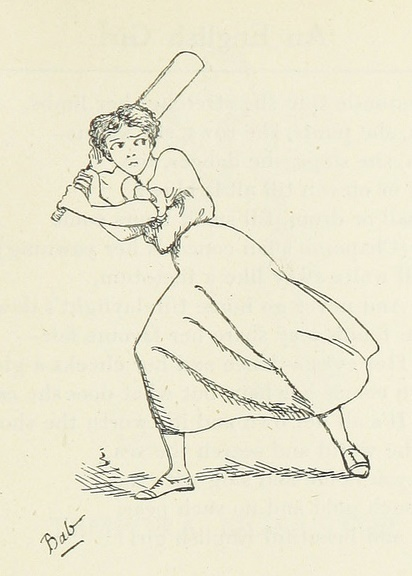 Cricket - girl with bat