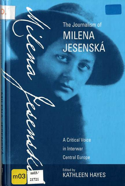 Cover of a collection of Milena Jesenska's journalism with a photograph of the author