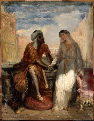 CM DELACROIX 10 CHASSERIAU Othello et Desdemone