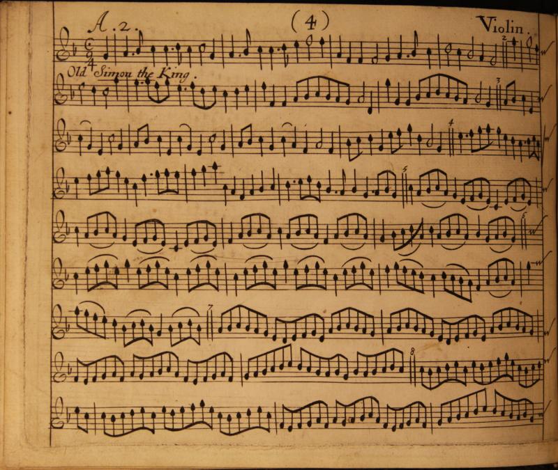 3a Old Simon - Division Violin 1